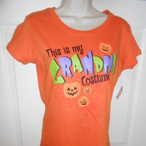 🎃 New Halloween S/Ch T-Shirt glitter Top Grandma